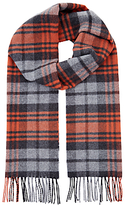 Jaeger Wool Cashmere Highlight Check Scarf, Fox