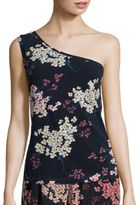 Rebecca Taylor One Shoulder Phlox Floral Top