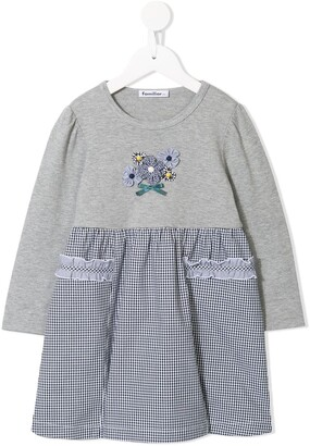 Familiar T-shirt-panelled dress