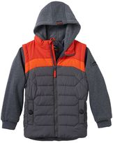 Pacific Trail Toddler Boy Midweight Mock-Layer Puffer Vest Hoodie
