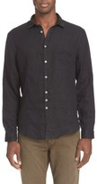 John Varvatos Men's Collection Slim Fit Linen Sport Shirt