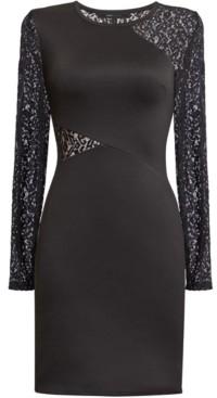 BCBGMAXAZRIA Jorden Lace-Panel Bodycon Dress