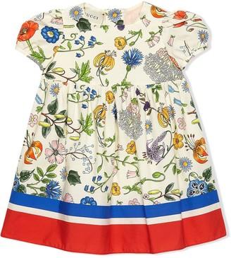 Gucci Kids Floral Festival-print dress
