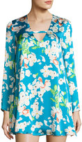 Lucca Couture Priscilla Floral-Print Shift Dress, Teal