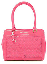 Kate Landry Patent Perforated Tote