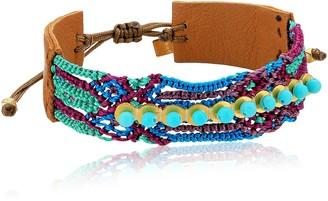 Chan Luu Turquoise Pull Tie Friendship Cuff Bracelet