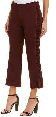 Jonathan Simkhai Lace Up Crepe Cropped Pant
