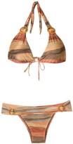 BRIGITTE striped buckle embellished bikini set