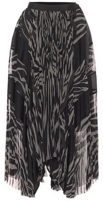 Sacai Zebra-print midi skirt