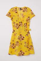 H&M Patterned Wrap-front Dress