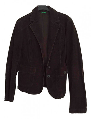 Benetton Brown Velvet Jackets