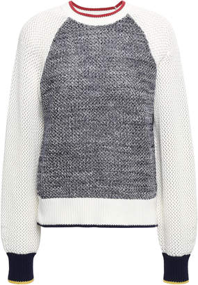 Joie Marled Color-block Cotton Sweater