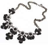 ShiningLove New Stylish Flower Sparkling Crystal Bib Rhinestone Choker Statement Necklace Lady Fashion Jewelry