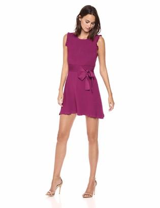 Parker Women's Renata Sleeveless fit to Flare Knit Short Dress