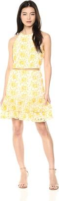 Keepsake Women's Wild Things Sleeveless LACE Tiered Ruffle Mini Dress
