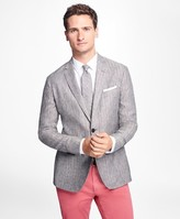 Brooks Brothers Two-Button Herringbone Linen Sport Coat