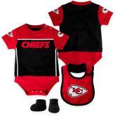 NFL Kansas City Chiefs Lil Jersey Size 24M 3-Piece Creeper, Bib, and Bootie Set