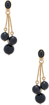 Oscar de la Renta Resin 3 Ball Drop Earring