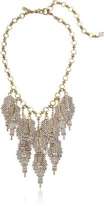 Badgley Mischka Rhinestone Feather Shaky Necklace