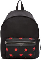 Saint Laurent Black Canvas Stars Backpack