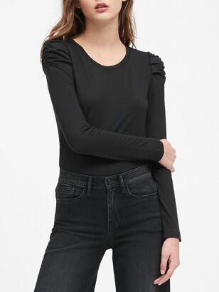 Banana Republic Threadsoft Puff-Sleeve T-Shirt