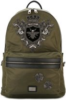 Dolce & Gabbana bee & crown 'Volcano' backpack