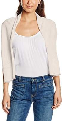More & More Women's 610432 Short Sleeve Cardigan - Beige - UK