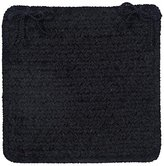 Simple Chenille M102 Chair Pad, 15 by 15-Inch, Black, 4-Pack