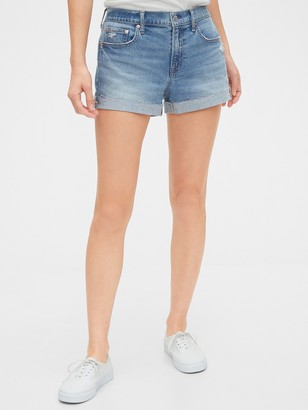 "Gap 3"" Mid Rise Distressed Denim Shorts"