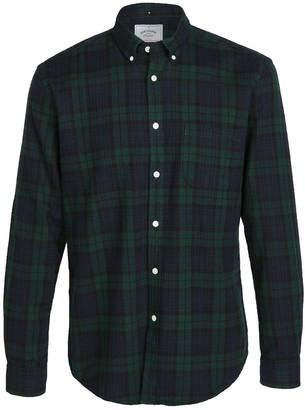 Portuguese Flannel Blackwatch Plaid Flannel Button Down