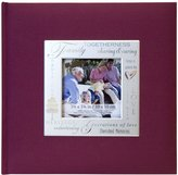 MCS MBI 846613 9 by 9-Inch Fabric Expressions with Frame Front 200 Pocket Album in Burgundy Family Theme
