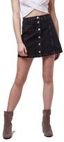 Topshop Women's Button Front Denim Skirt