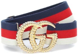 Gucci GG striped web belt