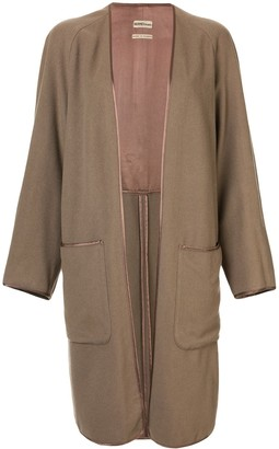 Hermes Pre-Owned Cashmere Long-Sleeved Coat