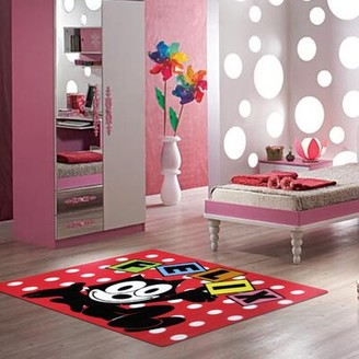 "Fun Rugs Felix Dots Red Area Rug Rug Size: 3'3"" x 4'10"""