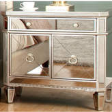 BestMasterFurniture Borghese 1 Drawer Mirrored Nightstand