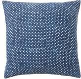 Pottery Barn Teen Westward Denim Dot Pillow Cover, 18x18, Blue