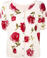 Twin-Set embroidered cardigan - women - Cotton - S