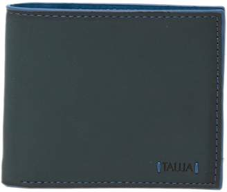 Tallia Bifold Leather Wallet with Colored Edges
