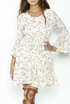 Fashion Pickle Bell Sleeve Printed Dress
