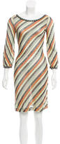 M Missoni Striped Patterned Dress