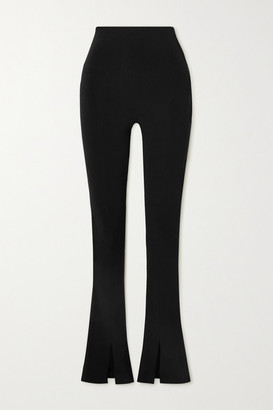 Norma Kamali Spat Stretch-jersey Flared Leggings - Black