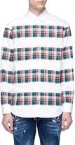 Dsquared2 Tartan plaid panelled shirt