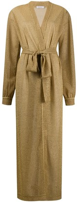 Oseree Long-Sleeve Belted Knit Coat