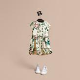 Burberry Peony Rose Print Silk Dress