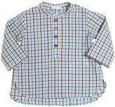 Il Gufo Checked Cotton Seersucker Shirt