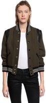 Saint Laurent Wool Knit Teddy W/ Leather Details