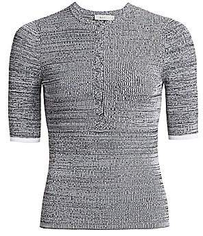 A.L.C. Women's Norris Short Sleeve Knit Henley