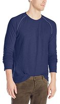 Velvet by Graham & Spencer Men's Deon Double Fold Slub Long Sleeve Crew Neck Tee
