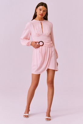 Finders Keepers DRAPE LS MINI DRESS blush